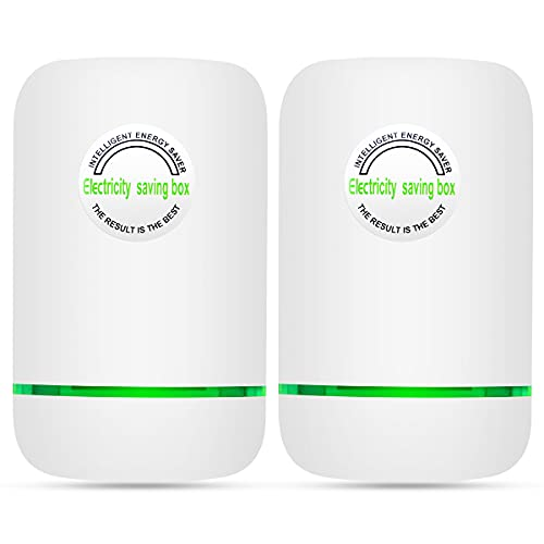 Power Save, Energy Saver, Electricity Saving Box Household Office Market Device Electric Smart US Plug (2 Pack)