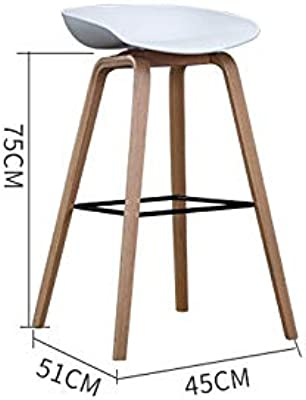 Amazon.com: Barstoolsporst Solid Wood Bar Stool, Creative High ...