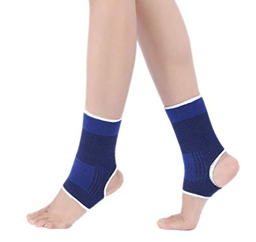 LUXXII (2 Pack) Elastic Ankle Brace Support Compression Wrap Movement Protection Ankle Sport Fitness Guard Band