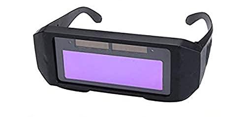 MASO Gafas de soldadura con energía solar para oscurecimiento automático LCD gafas de seguridad soldador cascos de soldadura máscara con 2 protectores de pantalla reemplazables de PC