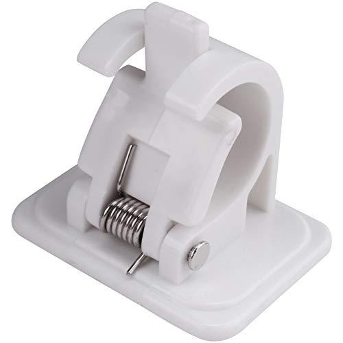 WANWE 10 ganchos autoadhesivos para colgar en la pared, soporte para toalla, soporte de cortina para colgar en barra