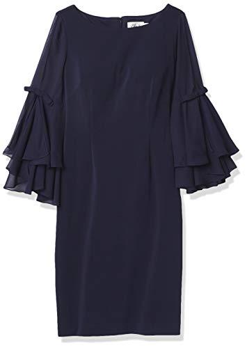 Eliza J Women's Shift Dress with Bell Sleeves, Navy, 20 Plus
