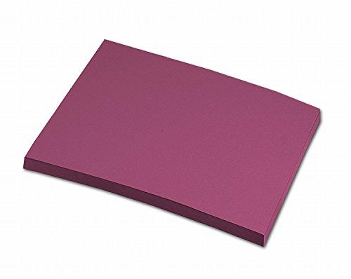 folia 6427 - Tonpapier weinrot, DIN A4, 130 g/qm, 100 Blatt - zum Basteln und kreativen Gestalten von Karten, Fensterbildern und für Scrapbooking