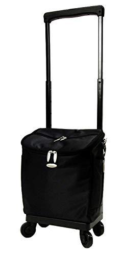 [スワニー] キャリーバッグ D-291ジップIV(M18) ブラック 三愛オリジナル折りたたみサブバッグ付