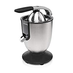 Profession citrus juicer Powerful 160 W motor Aluminium cast iron lever requires minimal force to juice Easy to clean and features dishwasher safe parts Non sip feet and drip stop system Suitable for all citrus fruits