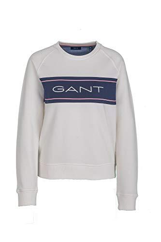 GANT D-D1 Archive Sweat C-Neck, Farbe:weiß, Größe:S
