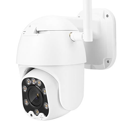 Cámara de Vigilancia Cámara De Seguridad CCTV, 8X Zoom Mini WiFi HD 1080P PTZ IR IR Cámara De Domo IP Al Aire Libre Impermeable con Dos Vías Audio Night Vision Detección De Movimiento (100-240V)