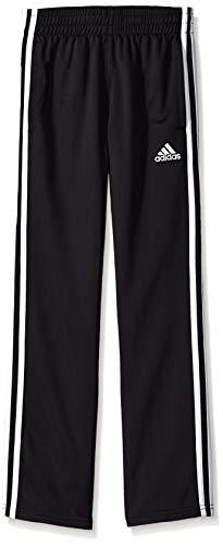 adidas Boys' Big Tricot Pant, Iconic Adi Black, Large