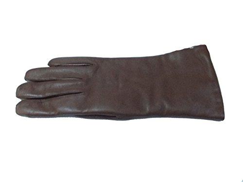 Weikert Damen Handschuhe Glattleder mit Wollfutter 301 rehbraun Größe 7,5