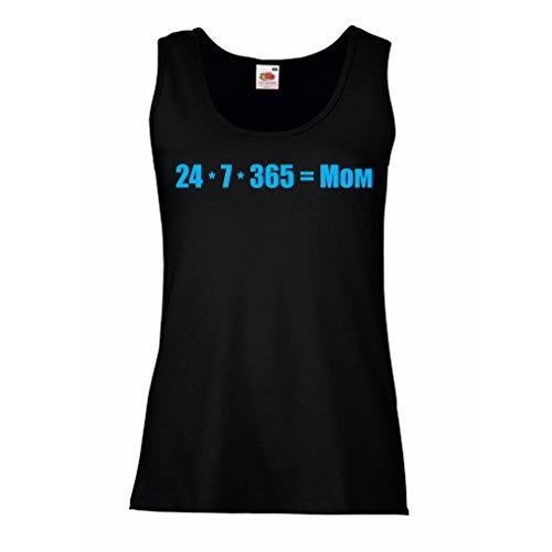 Camisetas sin Mangas para Mujer La Mejor mamá - Amor Usted Mensaje de la mamá - cumpleaños, día de Madres, Regalos del Aniversario (X-Large Negro Azul)