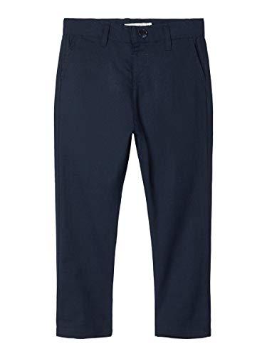 NAME IT Jungen Anzughose festlich NMMFALCON Pant Leinen, Größe:122, Farbe:Dark Sapphire