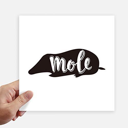 DIYthinker Mole zwart en wit dier vierkant Stickers 20Cm muur koffer Laptop Motobike Decal 4 Stks