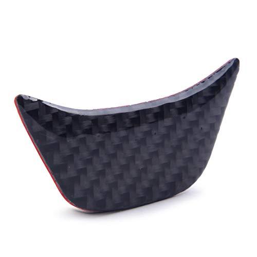 beler Garniture de couvre-volant de voiture Noir de fibre de carbone véritable texture