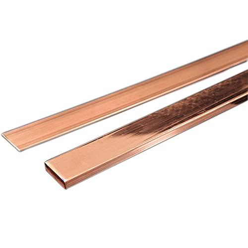 ZQQZ Hoja de Cobre Placa Plana Cuadrada T2 Barra de Barra de Cobre Fila para Material de artesanía Tubería Reparación de Motor de Engranajes (5mm x 20/25/30 mm x 100 mm),5mm*20mm*100mm