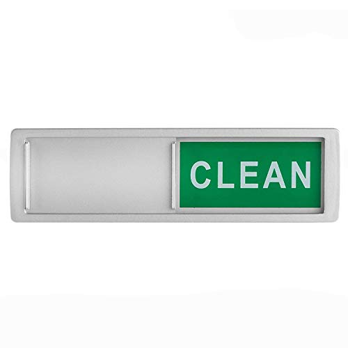 Imán para lavavajillas con texto en inglés «Clean Dirty Signe», imán antiarañazos y adhesivos 3M que muestran que los platos están limpios o sucios