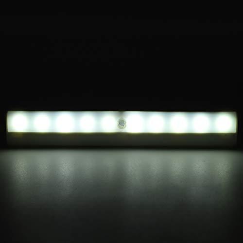 Eulbevoli Luz Nocturna, ángulo de inducción de 120 °, luz para escaleras, Duradera para escaleras, cajones, cocinas, dormitorios, armarios, talleres