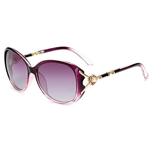 XXBFDT Gafas sol polarizadas hombres y mujeres - Gafas de sol UV de protector solar de las mujeres-púrpura