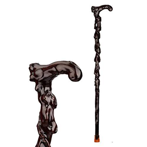 JHDPH3 Las muletas sólida Madera, Junco, Madera Viejo bastón de Madera, Unisex Ligero y Fuerte for Hombres y Mujeres, 85cm ⭐