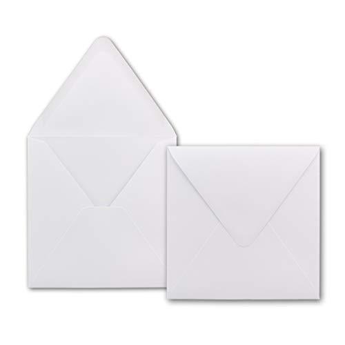41416W-100 Briefumschlage Quadratisch 16 x 16 cm - Hochweiss | 100 Stuck | EXTRA QUALITAT - 120 g/m2 | 16 x 16 cm - Fur ganz besondere Anl䳳e! - Nassklebung - Qualitatsmarke: GUSTAV NEUSER