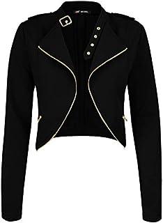 Michel Womens Fleece Jacket Classic Crop Rider Zip UP Jacket