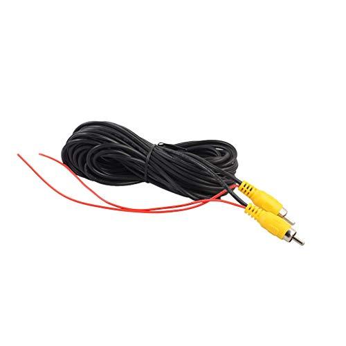 Guangcailun 6 m / 10m / 12m / 15m / 20m Universal RCA Macho a Macho Cable de vídeo del revés del Coche de visión Trasera Cable de estacionamiento cámara de vídeo Wire