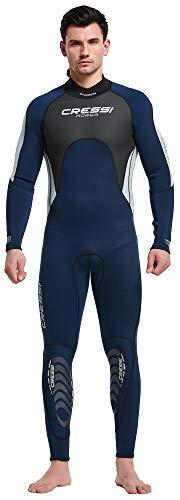 Cressi Morea Man Monopiece Wetsuit 3mm Traje de Buceo Neopreno para los Hombres, Azul/Gris/Plata, XL/5