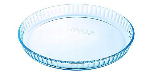 Arcuisine Pirex Moule à tarte en verre de qualité supérieure - Pour quiches, tartes aux fruits et plus - 26, 27, 30 cm, Verre, 30 cm - 3,5 cm hoch