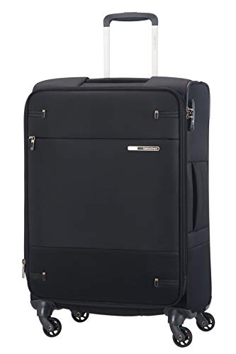 Samsonite Base Boost - Spinner M Expandable Suitcase, 66 cm, 67.5/73.5 Litre, Black
