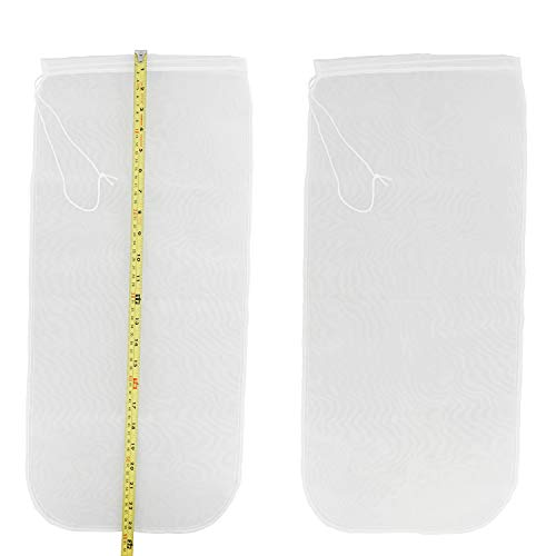 Fine Mesh Strainer Beer Bag 2-Pack, 10 x 23.5in – Cold Brew Coffee Bag, Strainer Bag, Cold Brew Bags, Boil Bags 2pk