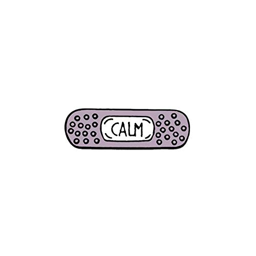 Cartoon Pflaster Emaille Pins glauben, erreichen erreichen ruhig beruhigen süße Bandage Anstecknadeln für Frauen Ich bin genug Rucksack Abzeichen Broschen-Lila, CHINA