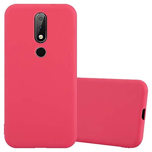 Cadorabo Hülle für Nokia X6 / Nokia 6.1 Plus in Candy ROT - Handyhülle aus flexiblem TPU Silikon - Silikonhülle Schutzhülle Ultra Slim Soft Back Cover Hülle Bumper