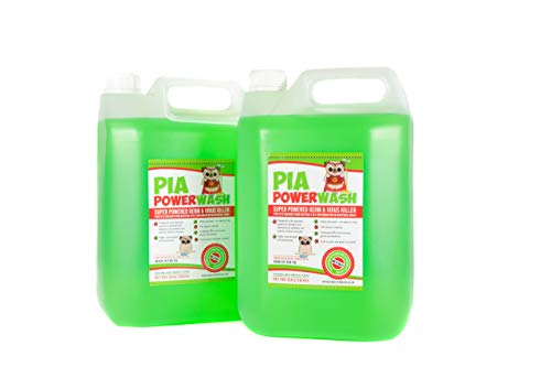PIA Power Wash 2x5ltr Artificial Grass Cleaner - Dog Urine and Poo Disinfectant. Multi Purpose Stain and Odour Remover for your Mattress, Sofa, Carpet, Laminate, Hardfloor and any type of Upholstery