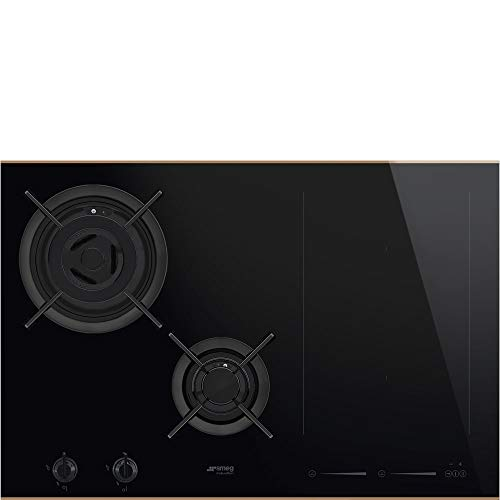 Plaque mixte Smeg PM6721WLDR - Plaque de cuisson 4 dont 1 extensible foyers / 2 boosters