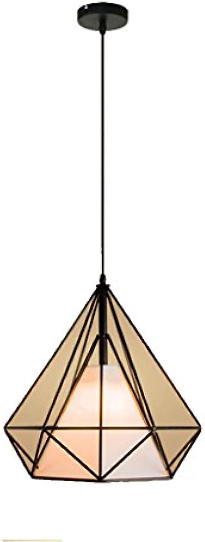 LED einzigen Kopf Esszimmer Kronleuchter einzigen Deckenleuchte Nordic Wohnzimmer Schmiedeeisen Diamant Kronleuchter Persnlichkeit Bar modernen minimalistischen Kaffee-Raum Beleuchtung WRF