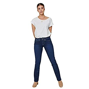 Kuyichi Damen Jeans Joy Straight Bio-Baumwolle recycelte Baumwolle