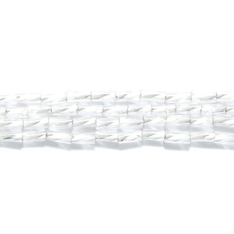 Preciosa Ornela Czech Super Twist Bugle Glass Bead No.2, 2 by 4mm, Silver Lined, Crystal