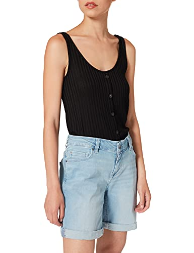 MUSTANG Damen Bermuda Jeans-Shorts, Mittelblau, 30W