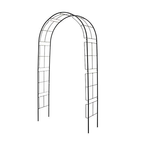 XLOO Arco de Metal para jardín, Cenador de pérgola de Metal, Tubo...