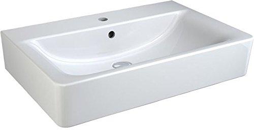 Ideal Standard Connect Cube Waschtisch weiß Ideal Plus; mit 1 Hahnloch, mit Überlauf; 70