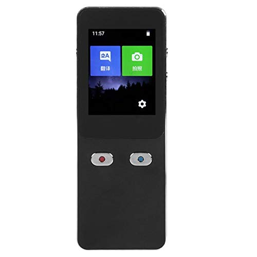 Mingxuanbh Portable WiFi Smart Voice Translator Bright Business Travel Tangible Time AI Translator Translation Machine 27 Languages Translator (Black) (Color : Black)