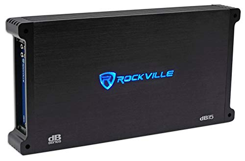 Rockville dB15 6000 Watt/3000w RMS Mono Class D 2 Ohm Amplifier Car Audio Amp