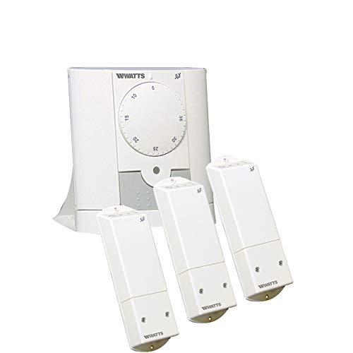 Mi-Heat Watts Vision - Termostato inalámbrico analógico con receptor
