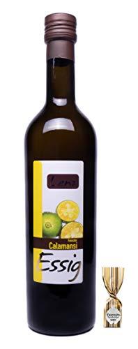Calamansi Essig 500ml Original Eigenkreation der Lenz Essig Linie, exotisch, herb-sauer und unwiderstehlich fruchtig. OHNE Versandkosten + 1 Trüffelpraline.