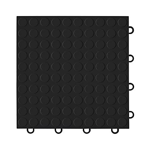"IncStores Coin Nitro Garage Tiles 12""x12"" Interlocking Garage Flooring (Black - 52-12""x12"" Tiles)"