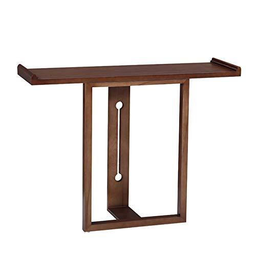 Mesa de consola de madera antigua, mesa de porche de entrada, nueva mesa auxiliar de estilo chino con partición larga contra la pared, escritorio de decoración de sofá de pasillo, utilizado para sal
