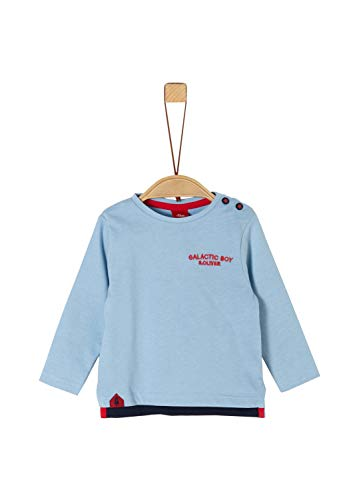 s.Oliver Baby-Jungen 65.911.31.7608 Langarmshirt, Blau (Blue 5312), (Herstellergröße: 74)