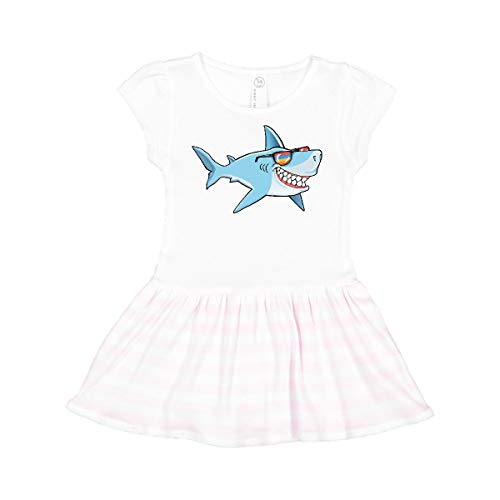 inktastic Super Suave Shark with Vintage Toddler Dress 3T White and Pink 363d0