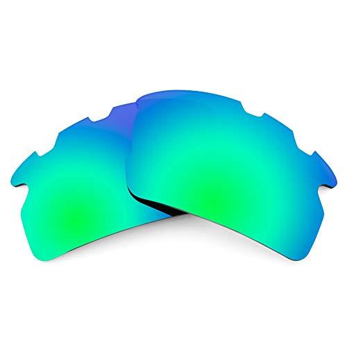 Revant Lentes de Repuesto Compatibles con Gafas de Sol Oakley Flak 2.0 Vented (Ajuste Asiático), Polarizados, Verde Esmeralda MirrorShield