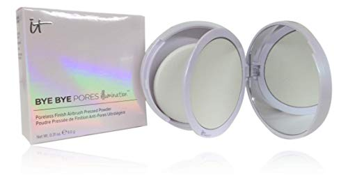IT Cosmetics Bye Bye Pores Illumination - Pressed Finishing Powder + Subtle Radiance - Universal Translucent Shade - Contains Anti-Aging Peptides, Silk, Hydrolyzed Collagen & Antioxidants - 0.31 oz