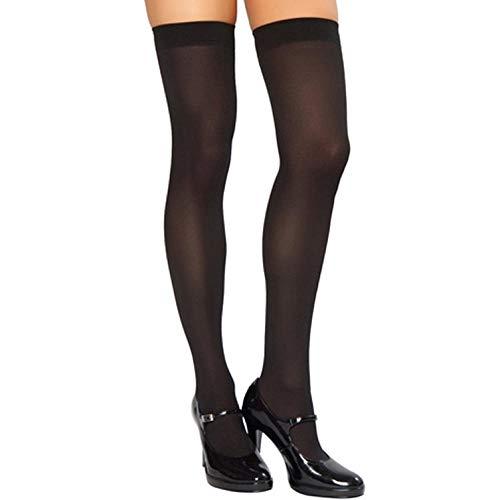 TIGERROSA Calcetines Para Mujer Luokou Medias Largas Medias Sexys Para Mujer Verano Damas Blanco Alto 2 Pares De Negro